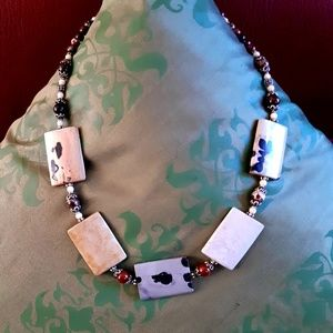 Jewelry - Jasper and Sterling necklace